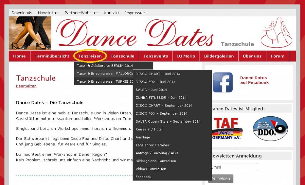 Tanzreisen Dance Dates