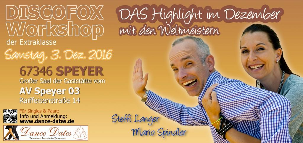 Disco Fox Workshops der Extraklasse @ Großer Saal Gaststätte AV 03 Speyer   Speyer   Rheinland-Pfalz   Deutschland