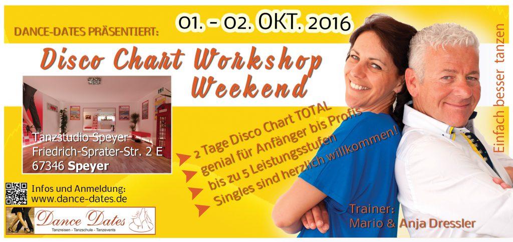 Disco Chart Workshop Weekend in Speyer @ Tanzstudio Dance Dates   Otterstadt   Rheinland-Pfalz   Deutschland