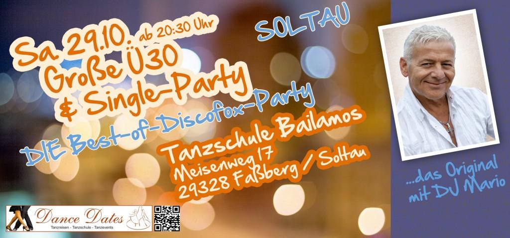 Große Ü 30 & Single Party – Best of Disco Fox – Das Original @ Tanzschule Bailamos   Faßberg   Niedersachsen   Deutschland