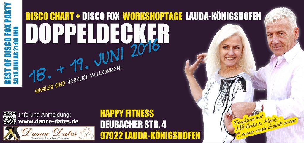 Disco Chart & Disco Fox Workshop Tage in Lauda Königshofen @ Happy Fitness  | Lauda-Königshofen | Baden-Württemberg | Deutschland
