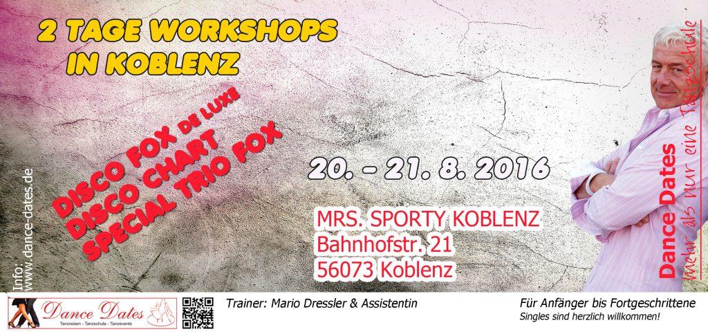 Koblenzer Workshop Tage @ MRS.SPORTY KOBLENZ | Koblenz | Rheinland-Pfalz | Deutschland
