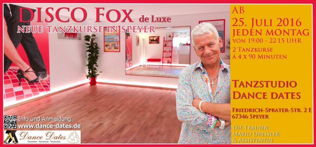 START: Disco Fox de Luxe Kurs in Speyer @ Speyer   Rheinland-Pfalz   Deutschland