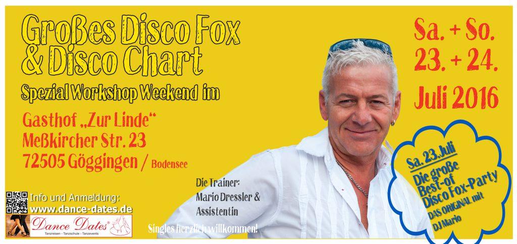 Grosses Disco Fox & Disco Chart Spezial Workshop Weekend in Göggingen am Bodensee @ Gasthof zur Linde | Krauchenwies | Baden-Württemberg | Deutschland