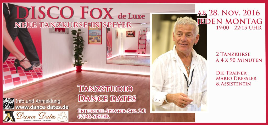 LAUFENDER KURS: Disco Fox de Luxe Kurse in Speyer
