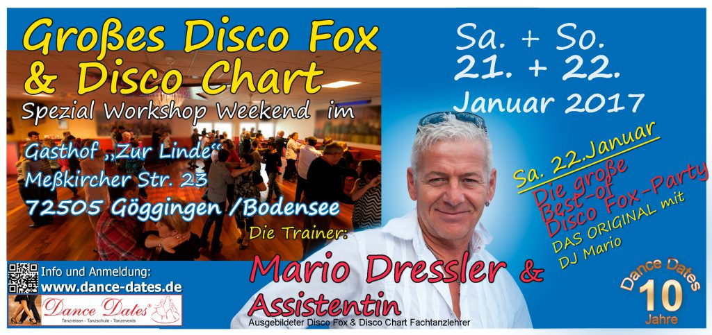 Großes Disco Fox & Disco Chart Spezial Workshop Weekend in Göggingen / Bodensee @ Gasthof zur Linde | Krauchenwies | Baden-Württemberg | Deutschland