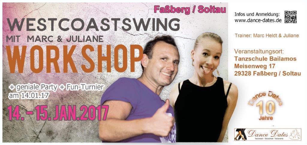 West Coast Swing Workshop Weekend in Faßberg / Soltau @ Tanzschule Bailamos | Faßberg | Niedersachsen | Deutschland