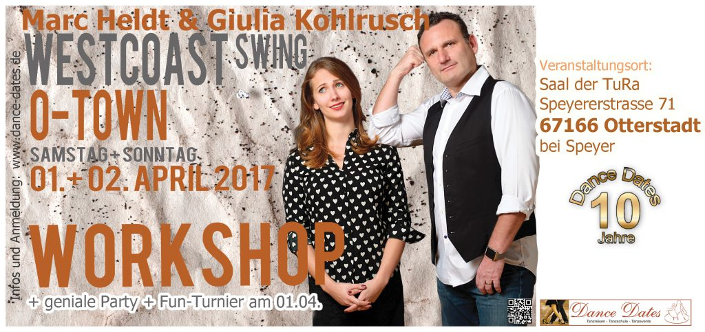 West Coast Swing Workshop Weekend in O-Town City / Speyer @ Saal der TuRa | Otterstadt | Rheinland-Pfalz | Deutschland
