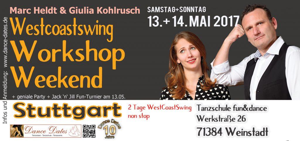 West Coast Swing Workshop Weekend in Stuttgart @ Tanzschule fun&dance | Weinstadt | Baden-Württemberg | Deutschland