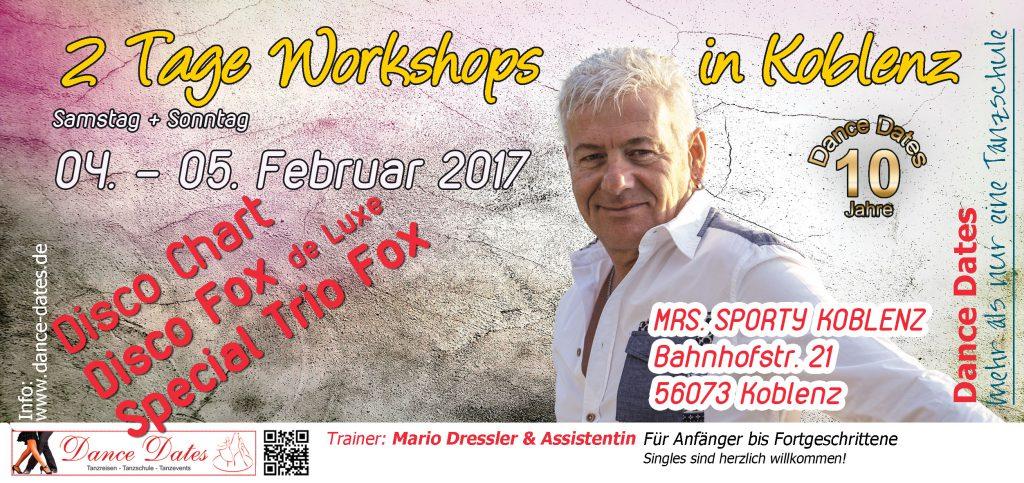 Disco Fox de Luxe & Special Trio Fox und Disco Chart Workshop Tage Koblenz @ MRS.SPORTY KOBLENZ | Koblenz | Rheinland-Pfalz | Deutschland