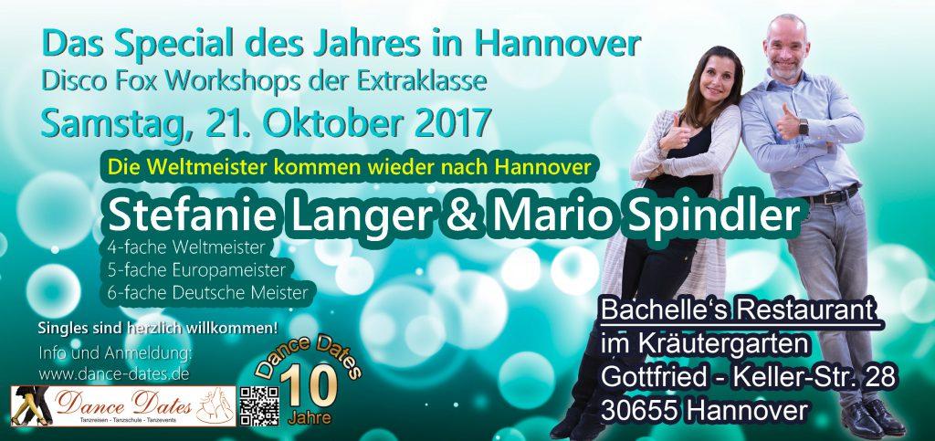 Das Special des Jahres: Disco Fox Workshops der Extraklasse @ Bachelle´s Restaurant im Kräutergarten | Hannover | Niedersachsen | Deutschland