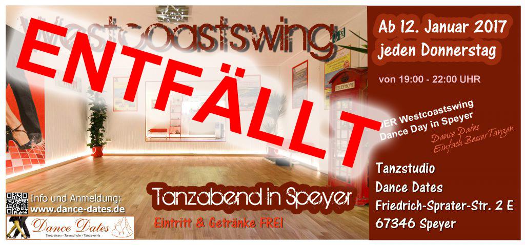 West Coast Swing Tanzabend in Speyer @ Tanzstudio Dance Dates | Speyer | Rheinland-Pfalz | Deutschland