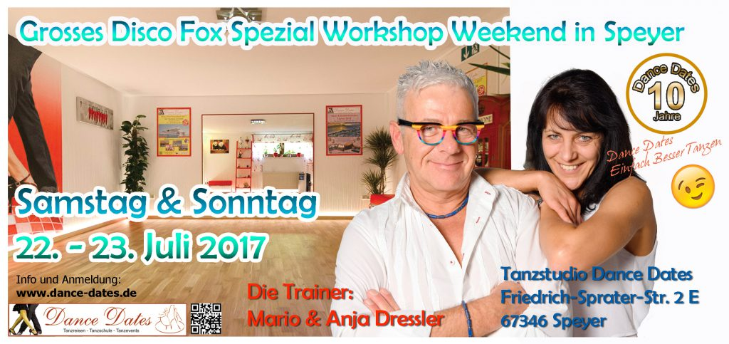 "Grosses Disco Fox Spezial Workshop Weekend in Speyer <span style=""font-size: 8px;"">ABGESAGT</span> @ Tanzstudio Dance Dates 