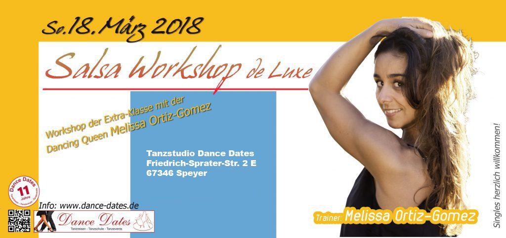 Salsa Workshop de Luxe mit der Profitänzerin & Salsa Queen: Melissa Ortiz Gomez @ Tanzstudio Dance Dates | Speyer | Rheinland-Pfalz | Deutschland