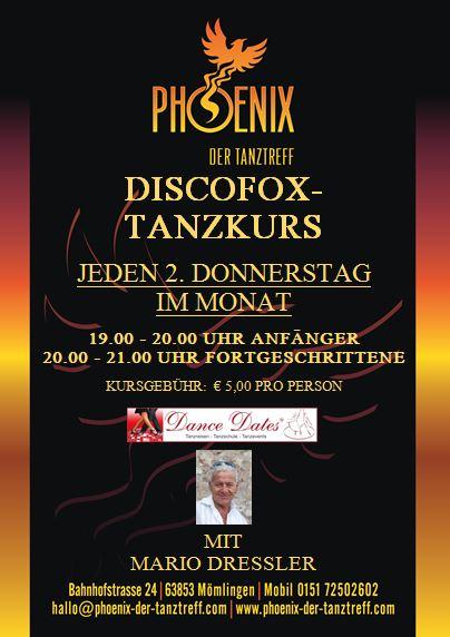 Disco Fox Tanzkurs im Phönix in Mömlingen @ Tanztreff Phoenix | Mömlingen | Bayern | Deutschland