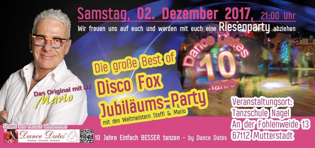 Best of Disco Fox Party – Das Original mit DJ Mario @ Tanzschule Nagel | Mutterstadt | Rheinland-Pfalz | Deutschland