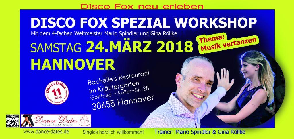 Disco Fox Spezial Workshop in Hannover @ Bachelle´s Restaurant im Kräutergarten | Hannover | Niedersachsen | Deutschland