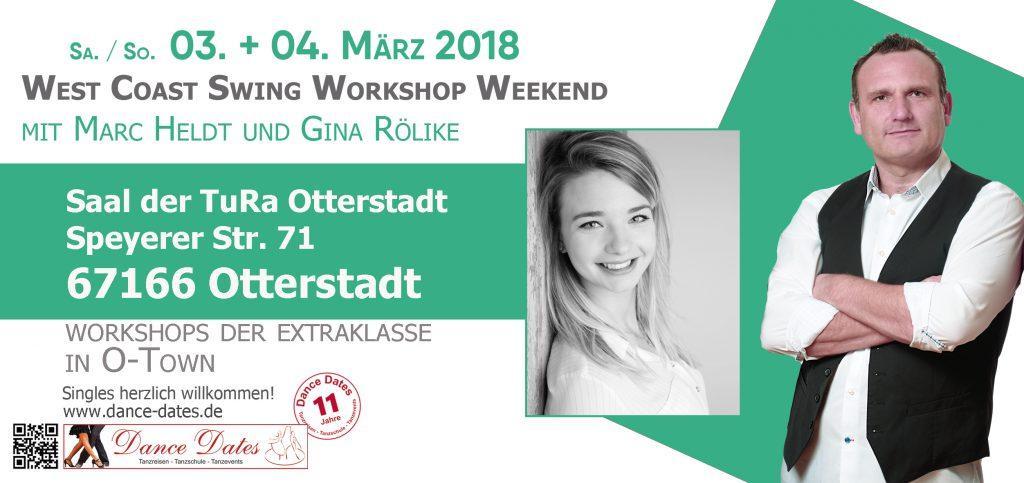 West Coast Swing Workshop Weekend in Otterstadt / Speyer @ Saal der TuRa Otterstadt | Otterstadt | Rheinland-Pfalz | Deutschland
