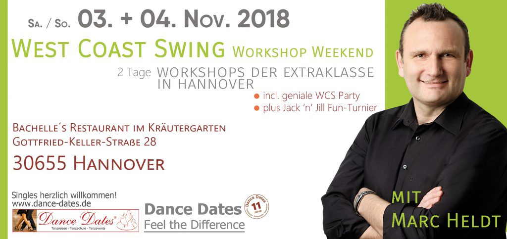 West Coast Swing Workshop Weekend in Hannover @ Bachelle´s Restaurant im Kräutergarten | Hannover | Niedersachsen | Deutschland