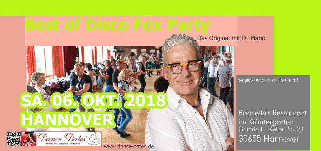Best of Disco Fox Party – Das Original mit DJ Mario in Hannover @ Bachelle's Restaurant im Kräutergarten | Hannover | Niedersachsen | Deutschland