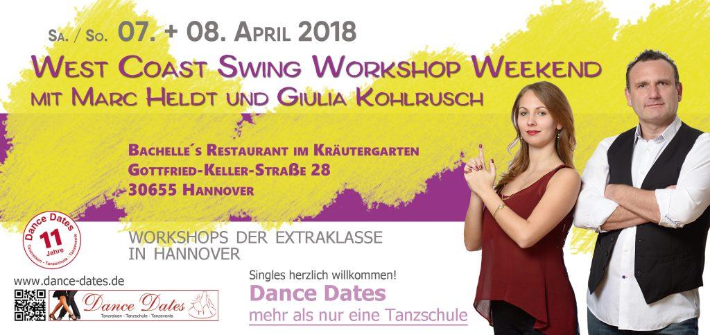 West Coast Swing Workshop Weekend in Hannover @ Bachelle´s Restaurant im Kräutergarten | Hannover | Niedersachsen | Deutschland