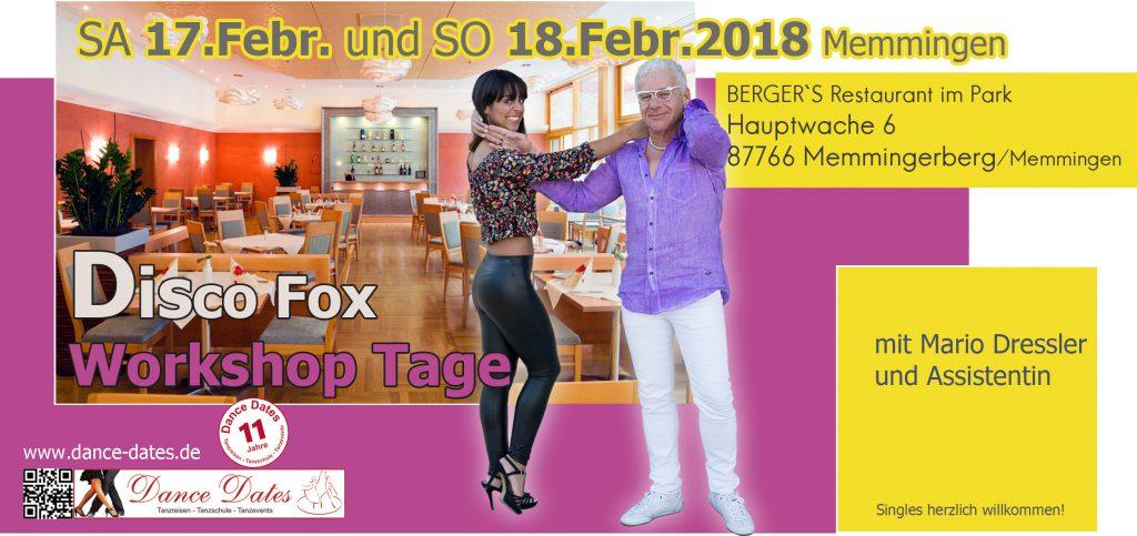 Disco Fox Workshops & Tanzparty in Memmingen @ BERGER`S Restaurant im Park | Memmingerberg | Bayern | Deutschland