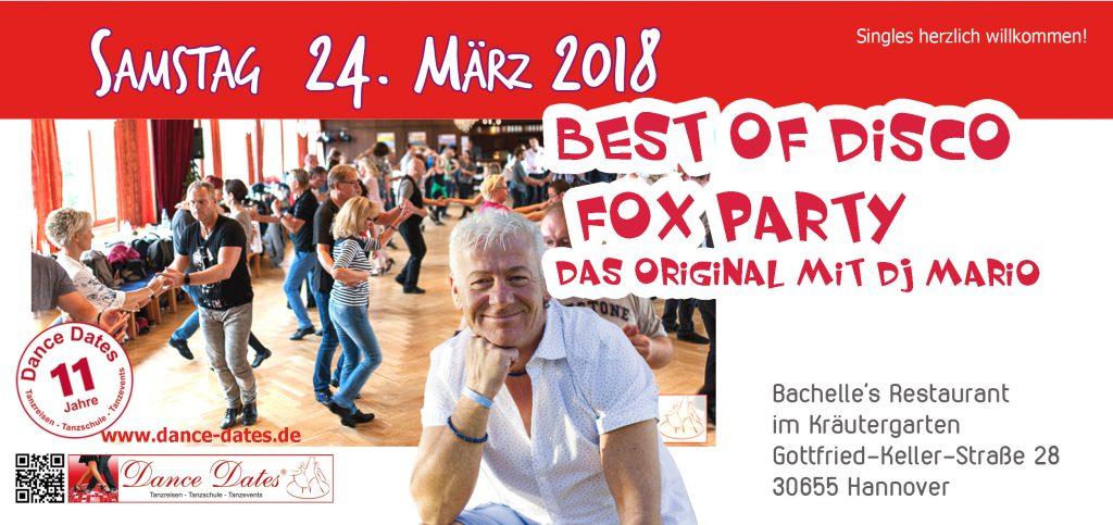 Best of Disco Fox Party - Hannover @ Bachelle´s Restaurant im Kräutergarten | Hannover | Niedersachsen | Deutschland