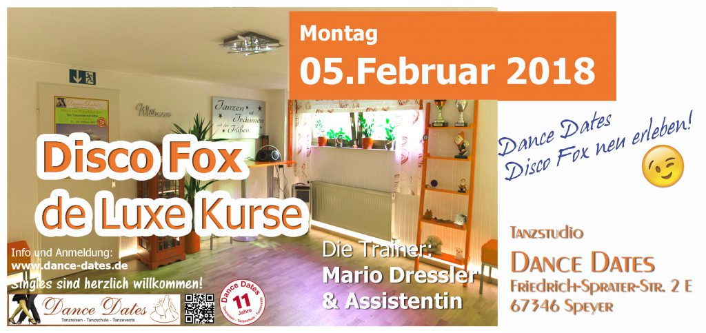 START: Disco Fox de Luxe Kurse in Speyer @ Tanzstudio Dance Dates | Speyer | Rheinland-Pfalz | Deutschland