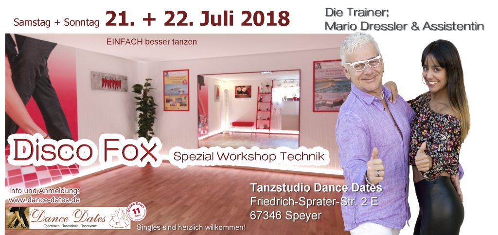 Disco Fox Spezial Technik Workshop Speyer @ Tanzstudio Dance Dates | Speyer | Rheinland-Pfalz | Deutschland