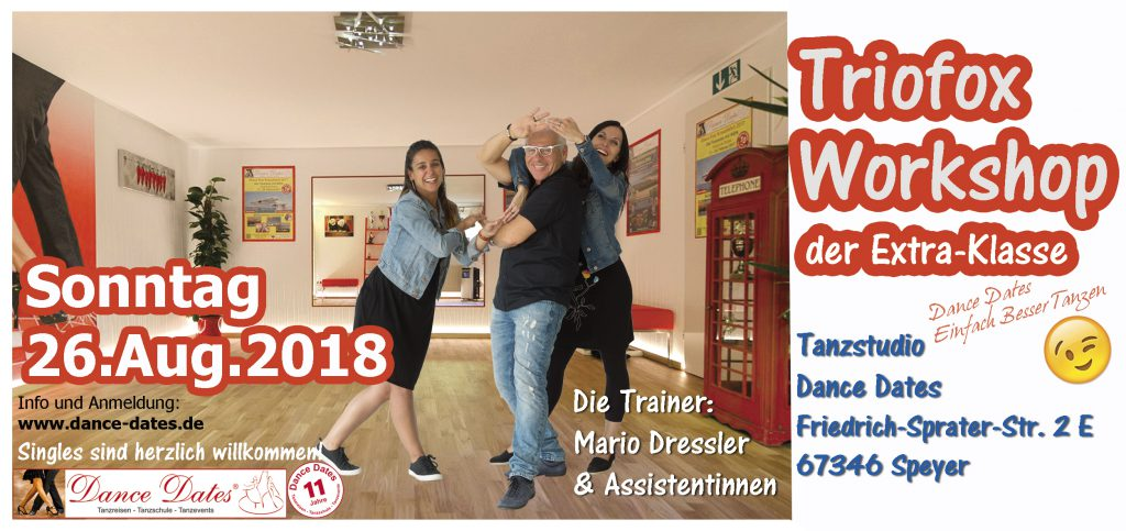 Trio Disco Fox Workshops der Extraklasse in Speyer @ Tanzstudio Dance Dates | Speyer | Rheinland-Pfalz | Deutschland