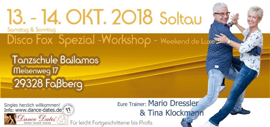 Disco Fox Spezial Workshop Weekend de Luxe in Faßberg bei Soltau @ Tanzschule Bailamos | Faßberg | Niedersachsen | Deutschland