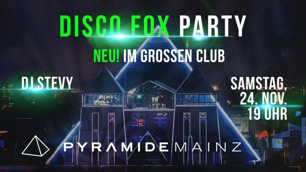 Disco Fox Party - Pyramide - Mainz @ Pyramide Mainz | Mainz | Rheinland-Pfalz | Deutschland