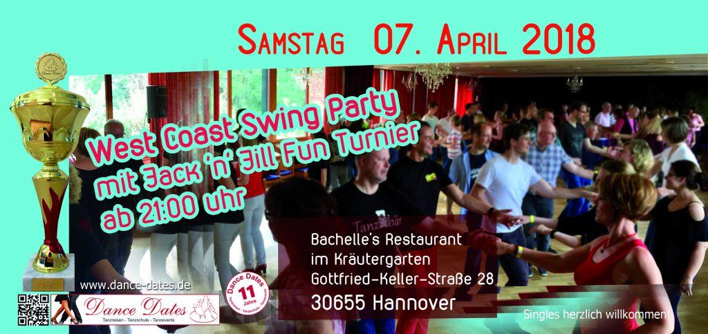 WCS Party mit Jack'n'Jill Fun Turnier @ Bachelle´s Restaurant im Kräutergarten | Hannover | Niedersachsen | Deutschland