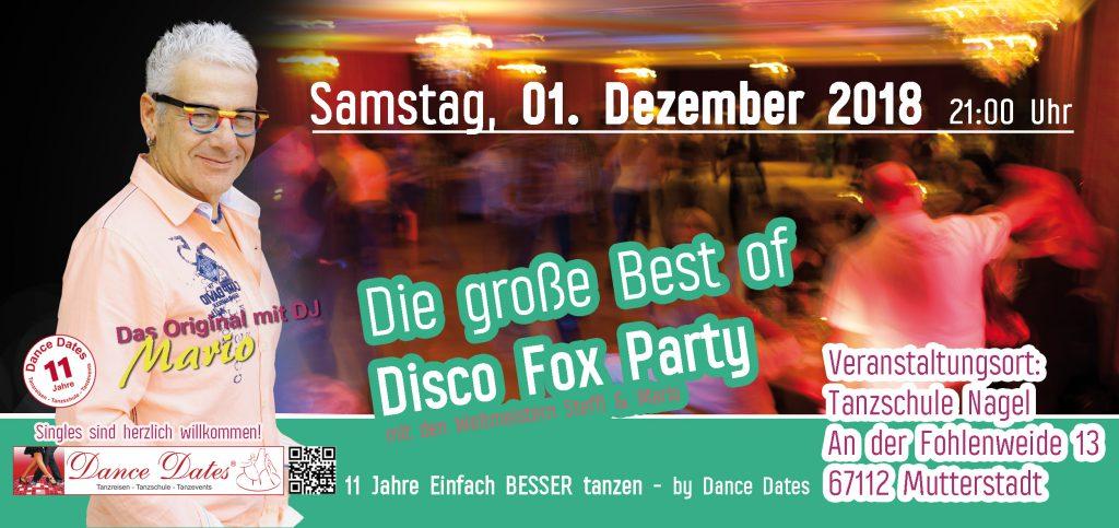 Die grosse Best of Disco Fox Party – Das Original @ Tanzschule Nagel | Mutterstadt | Rheinland-Pfalz | Deutschland