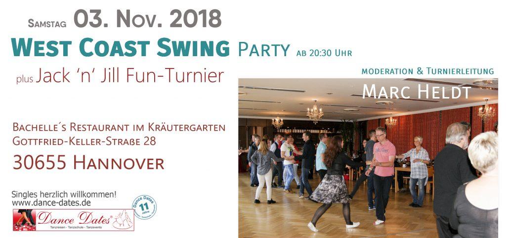 WCS Party & Jack ´n´ Jill Fun Turnier in Hannover @ Bachelle´s Restaurant im Kräutergarten | Hannover | Niedersachsen | Deutschland