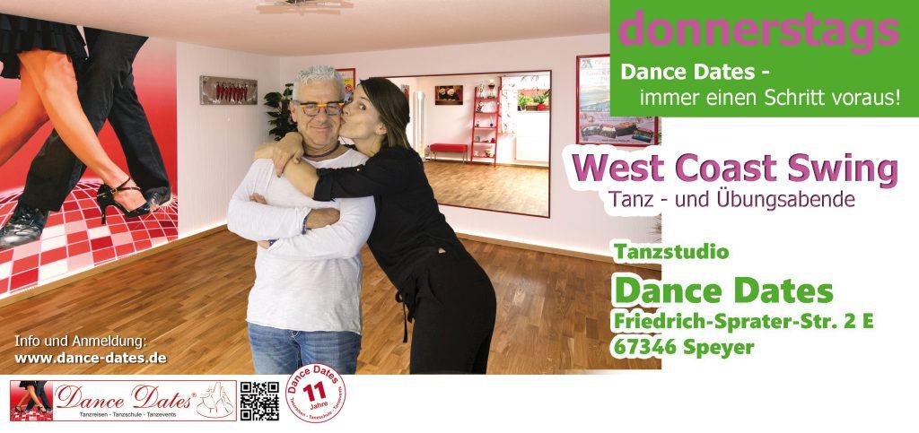 West Coast Swing Tanz- und Übungsabend in Speyer @ Tanzstudio Dance Dates | Speyer | Rheinland-Pfalz | Deutschland