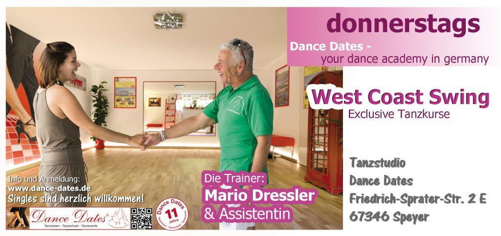 Neue West Coast Swing Tanzkurse in Speyer @ Tanzstudio Dance Dates | Speyer | Rheinland-Pfalz | Deutschland