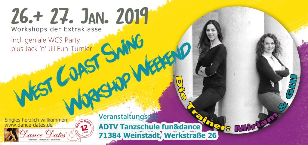 WCS Workshop Weekend in Weinstadt @ ADTV Tanzschule fun&dance | Weinstadt | Baden-Württemberg | Deutschland