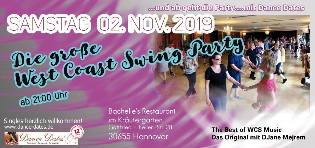 WCS Party in Hannover @ Bachelle's Restaurant im Kräutergarten | Hannover | Niedersachsen | Deutschland