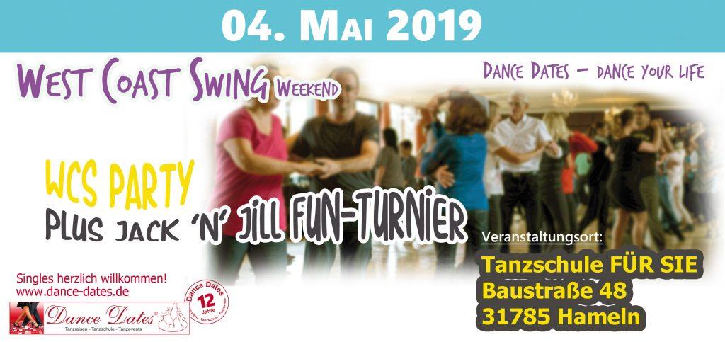 WCS Party & Jack ´n´ Jill Fun Turnier in Hameln @ Tanzschule FÜR SIE | Hameln | Niedersachsen | Deutschland