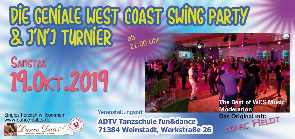WCS Party & Jack ´n´ Jill Fun Turnier in Weinstadt @ ADTV Tanzschule fun&dance | Weinstadt | Baden-Württemberg | Deutschland
