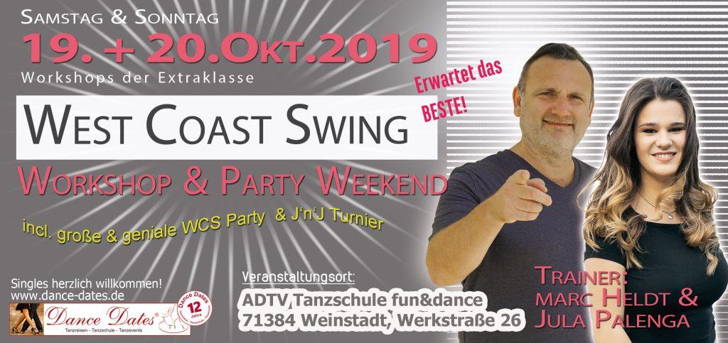 WCS Workshop & Party Weekend in Weinstadt / Stuttgart @ ADTV Tanzschule fun&dance | Weinstadt | Baden-Württemberg | Deutschland