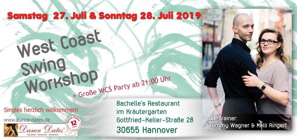 WCS Workshop Weekend in Hannover @ Bachelle's Restaurant im Kräutergarten | Hannover | Niedersachsen | Deutschland