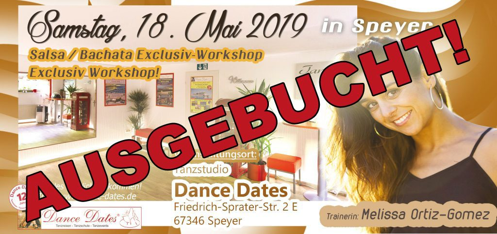 Salsa & Bachata Workshop Speyer mit Melissa Ortiz Gomez @ Tanzstudio Dance Dates | Speyer | Rheinland-Pfalz | Deutschland