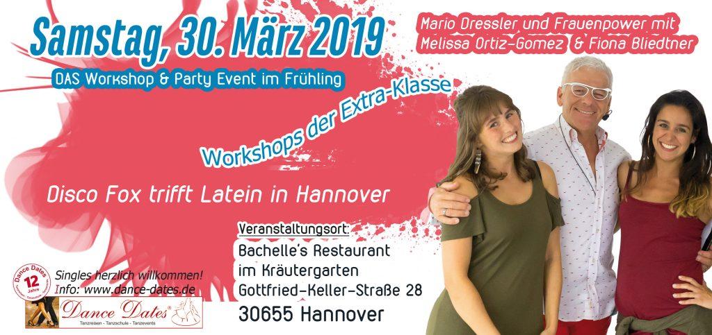 Latin Fox – Disco Fox trifft auf Latein = DER Disco Fox Workshops der Extraklasse @ Bachelle's Restaurant im Kräutergarten | Hannover | Niedersachsen | Deutschland