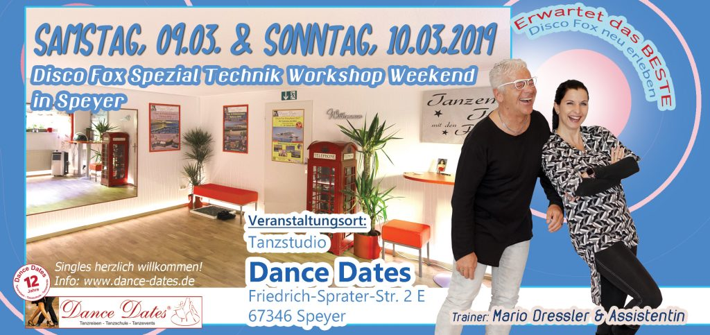 Disco Fox Spezial Technik Workshop Weekend in Speyer @ Tanzstudio Dance Dates | Speyer | Rheinland-Pfalz | Deutschland