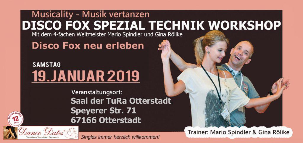 Disco Fox Spezial Technik Workshop der Extraklasse @ Saal der TuRa Otterstadt | Otterstadt | Rheinland-Pfalz | Deutschland