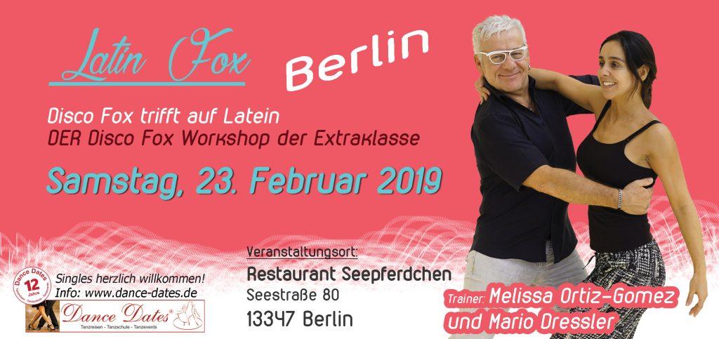 Latin Fox – Disco Fox trifft auf Latein Berlin @ Restaurant Seepferdchen | Berlin | Berlin | Deutschland