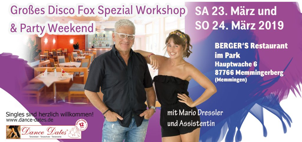 Disco Fox Spezial Workshop Memmingen @ Berger's Restaurant im Park | Memmingerberg | Bayern | Deutschland