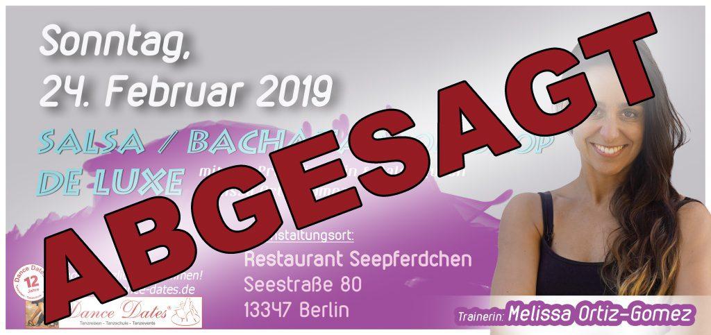 "Salsa & Bachata Workshop de Luxe Berlin <span style=""font-size: 8px;"">ABGESAGT</span> @ Restaurant Seepferdchen | Berlin | Berlin | Deutschland"